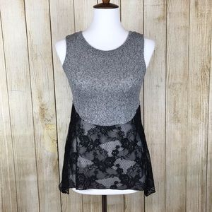 Socialite Knitted Sleeveless Lace Top XS